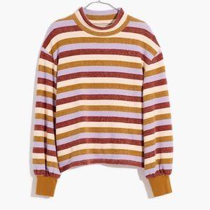 Madewell Mockneck Bubble-Sleeve Sweatshirt